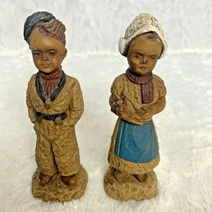 Dutch Children Figurine Boy and Girl with Traditio